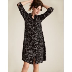 Marks & Spencer Polka Dot Collared Swing Dress - Black Mix - US 4 found on Bargain Bro India from Marks and Spencers - US for $60.00