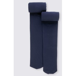 2 Pairs of Tights (4-14 Years) navy
