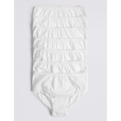 7 Pack Pure Cotton Briefs (18 Months - 12 Years) white