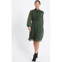 Mesh Ruffle Bubble Sleeve Tea Dress green found on MODAPINS from Marks and Spencers - US for USD $7.00