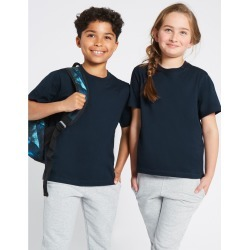 2 Pack Unisex Pure Cotton T-Shirts navy