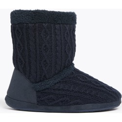 Cable Knit Slipper Boots