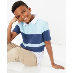 Cotton Colour Block Rugby Top (6-16 Years)