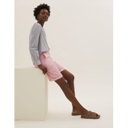 Cotton Striped Long Chino Shorts found on MODAPINS from Marks and Spencers - US for USD $26.00