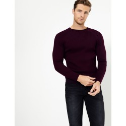 Supima® Cotton Ribbed Jumper plum