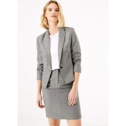 Tailored Checked Single Breasted Blazer found on MODAPINS from Marks and Spencers - US for USD $50.00