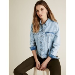 PETITE Essential Denim Jacket found on MODAPINS from Marks and Spencers - US for USD $60.00