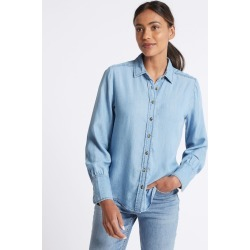 Denim Tencel Shirt denim found on MODAPINS from Marks and Spencers - US for $42.00