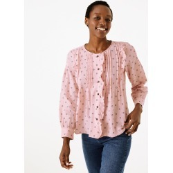 Cotton Rich Pintuck Pioneer Blouse