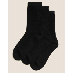 3 Pairs of Freshfeet™ Ultimate Comfort Socks with Modal (2-16 Years) black