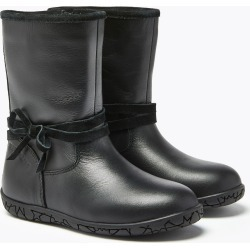 Kids' Leather Bow Boots (4 Small - 12 Small)