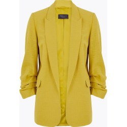 Linen Ruched Sleeve Blazer found on MODAPINS from Marks and Spencers - US for USD $77.50