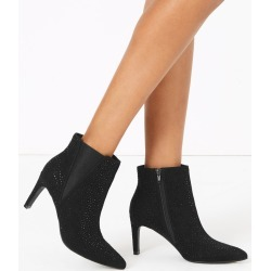 Embellished Stiletto Heel Chelsea Ankle Boots