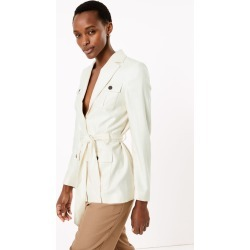 Linen Single Breasted Blazer found on MODAPINS from Marks and Spencers - US for USD $125.00