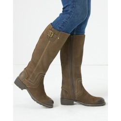 Leather Stitch Knee High Boots