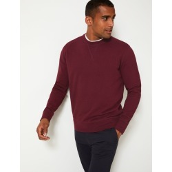 Pure Cotton Crew Neck Sweatshirt plum