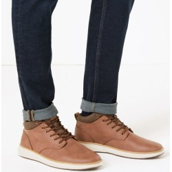 Padded Collar Casual Boots