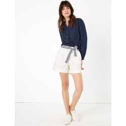 Cotton Pleat Front Chino Shorts found on MODAPINS from Marks and Spencers - US for USD $50.00