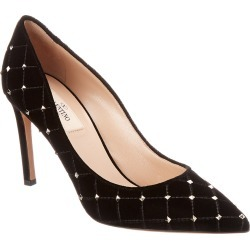 Valentino Rockstud Spike 90 Velvet Pump found on Bargain Bro India from Gilt City for $499.99