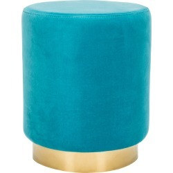 Safavieh Couture Elsworth Velvet Ottoman With Brass Base found on Bargain Bro India from Ruelala for $189.98