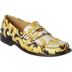 Versace Hibiscus Print Leather Loafer found on Bargain Bro India from Gilt for $497.00