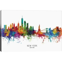 iCanvas New York Skyline by Michael Tompsett Wall Art found on Bargain Bro Philippines from Gilt for $79.99