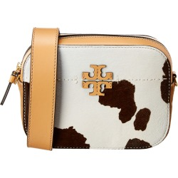 Tory Burch McGraw Leather & Haircalf Camera Bag