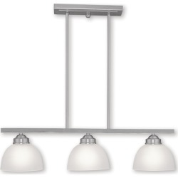 Livex Somerset 3-Light Brushed Nickel Island found on Bargain Bro Philippines from Gilt City for $199.99