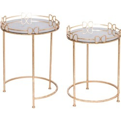 A & B Home Set of 2 Side Table