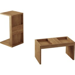 Set of 2 Marine Coffee & Side Table