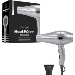 Fahrenheit Heat Wave Collection 1875 Watt Ultra Light Professional Hair Dryer With Nozzle