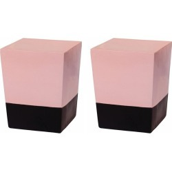 Seasonal Living Two Glaze Pink Ceramic Square Cubes (Set Of 2) found on Bargain Bro Philippines from Ruelala for $879.99
