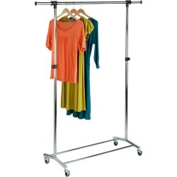 Honey-Can-Do Garment Rack with Adjustable Bar and Steel Casters