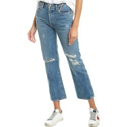 Jean Atelier Laurent Medium Blue High-Rise Straight Leg found on MODAPINS from Gilt for USD $99.99