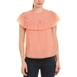 Rebecca Taylor Pinwheel Silk-Blend Top found on Bargain Bro India from Ruelala for $65.99