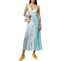 RIXO LONDON Denise Patchwork Floral Silk Slip Dress found on Bargain Bro India from Gilt for $135.99