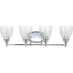 Jonathan Y Marais 30in 4-Light Metal Glass LED Wall Sconce found on Bargain Bro India from Ruelala for $164.99