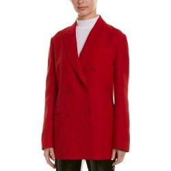 Valentino Double-Breasted Silk & Wool-Blend Blazer found on Bargain Bro India from Gilt for $1555.99