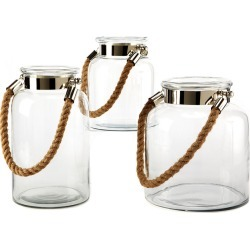 Two's Company Set of 3 Lanterns