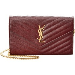 Saint Laurent Medium Monogram Matelasse Leather Wallet On Chain found on Bargain Bro India from Gilt City for $1359.99
