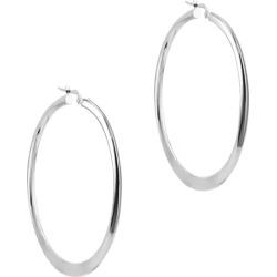 Argento Vivo Silver Medium Hoops