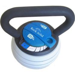 Rock Solid Adjustable 5-20lb Kettlebell