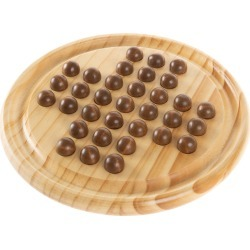 Wooden Solitaire Board Game Set