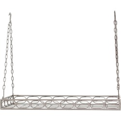 Old Dutch Antique Pewter Medium Gauge Rectangular Pot Rack