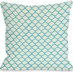 "One Bella Casa ""Ivory Fence"" Decorative Pillow"