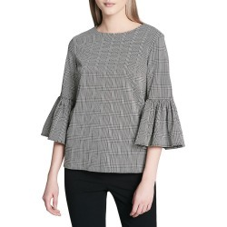 Calvin Klein Plaid Bell-Sleeve Blouse found on Bargain Bro India from Gilt for $50.55