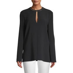 Stella McCartney Chain Neck Keyhole Blouse