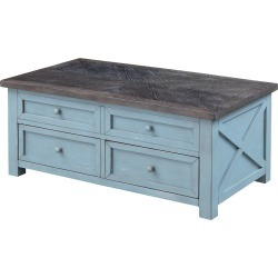 Bar Harbor Two Drawer Lift Top Cocktail Table