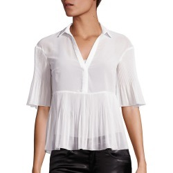 Giamba Georgette Plisse Short-Sleeve Blouse found on MODAPINS from Ruelala for USD $219.99