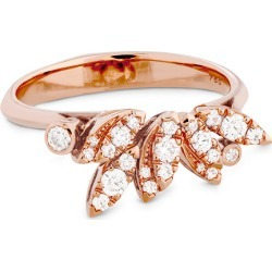 Hearts On Fire 18K Rose Gold 0.32 ct. tw. Diamond White Kites Feathers Ring found on Bargain Bro from Gilt City for USD $1,048.79